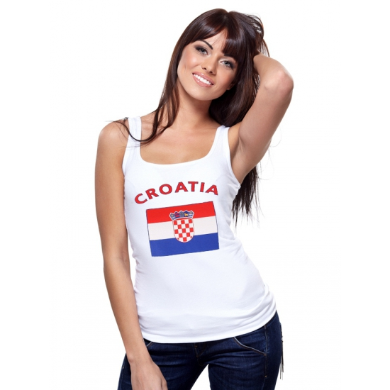Kroati? tanktop met Kroatische vlag print voor dames