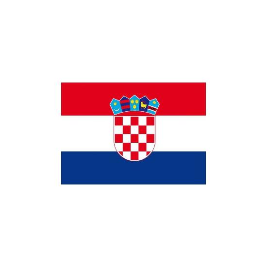 Kroatische vlaggetjes stickers