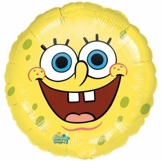Image of Lachende Spongebob folie ballon helium 43cm