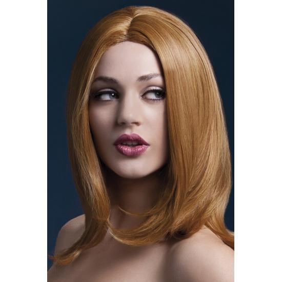Image of Lange bob damespruik bruin