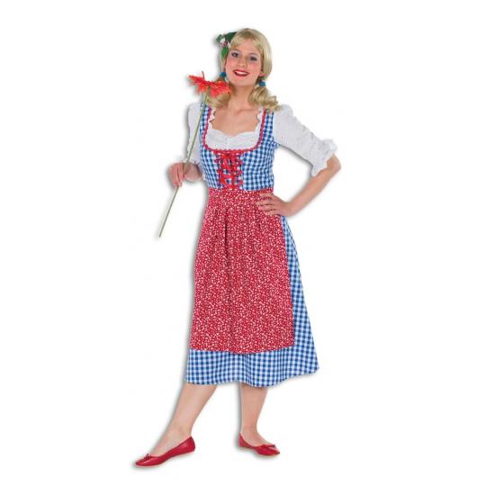 Image of Lange Heidi dames jurk geblokt