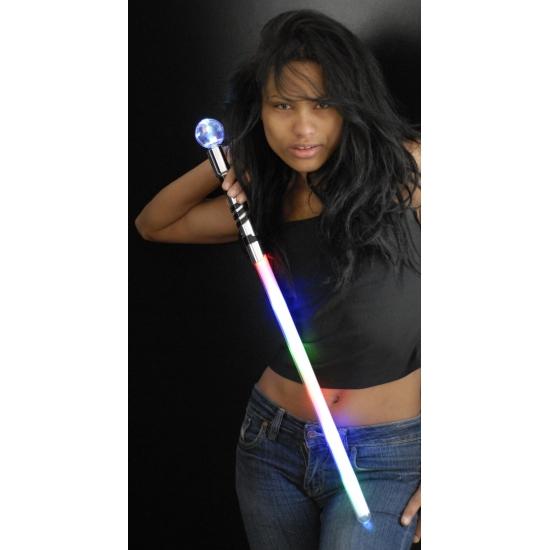 Image of LED licht zwaard met bol 70 cm