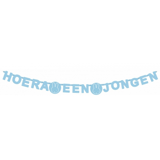 Image of Letterslinger Nijntje blauw hoera een jongen