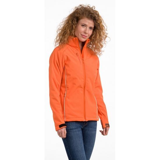 Image of Licht gevoerde damesjas oranje