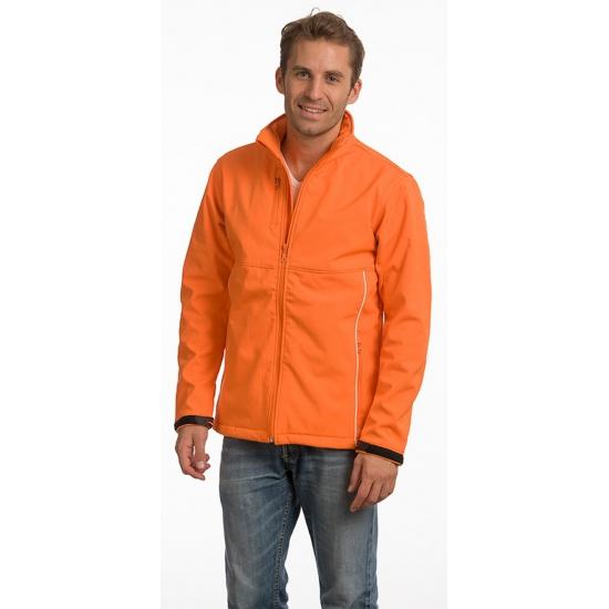 Image of Licht gevoerde herenjas oranje