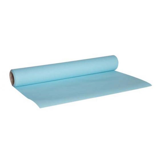 Image of Lichtblauwe kleur tafelloper van papier