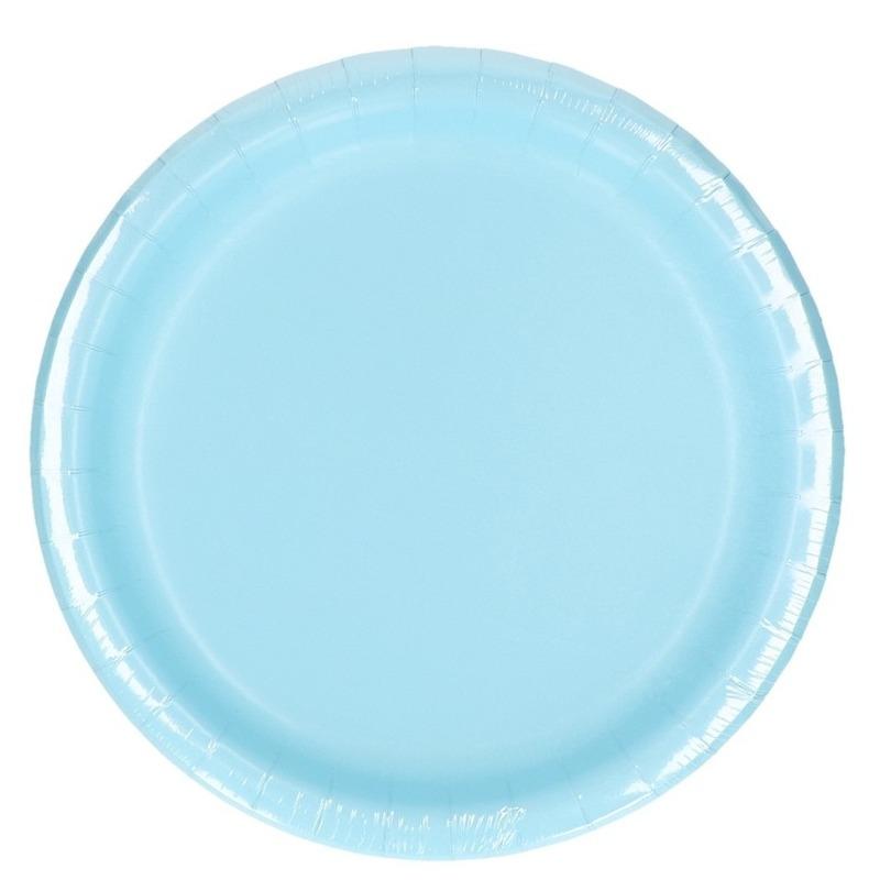 Image of Lichtblauwe weggooi borden 8 stuks
