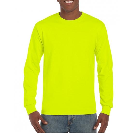 Image of Lichtgevend geel heren shirt met lange mouw