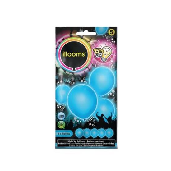 Image of Lichtgevende blauwe LED ballon