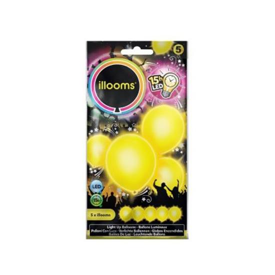 Image of Lichtgevende gele LED ballon