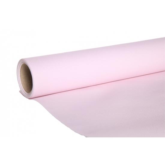 Image of Lichtroze kleur tafelloper van papier
