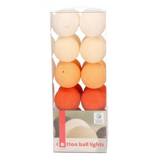 Lichtsnoer met 20 oranje balletjes