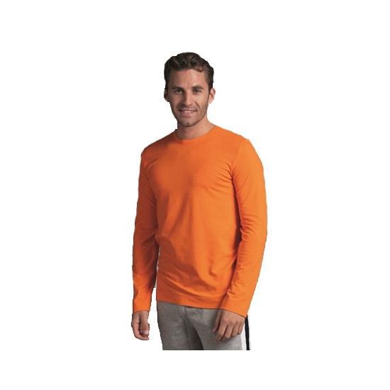 Longsleeve shirt heren oranje