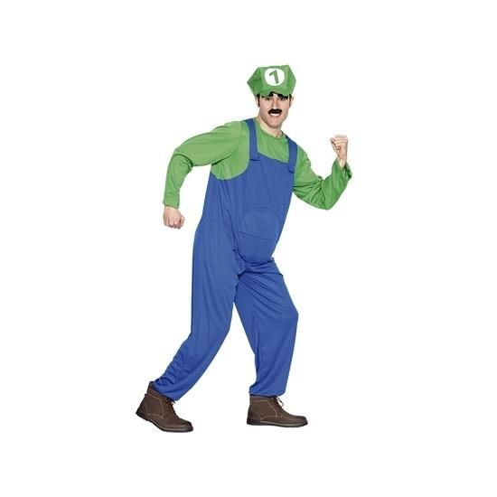Image of Loodgieter kostuum groen voor heren