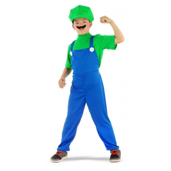 Image of Loodgieter kostuum groen voor jongens