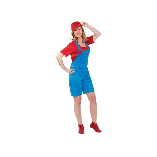 Image of Loodgieter kostuum rood voor dames
