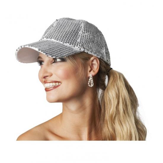 Image of Luxe disco pet met zilveren pailletten