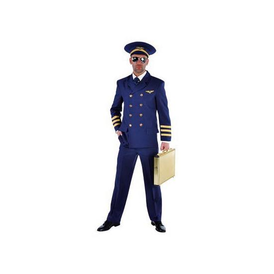 Image of Luxe heren piloten kostuum blauw