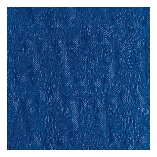 Image of Luxe servetten barok patroon blauw 3-laags 15 stuks