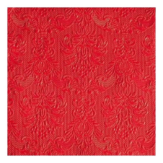 Image of Luxe servetten barok patroon rood 3-laags 15 stuks
