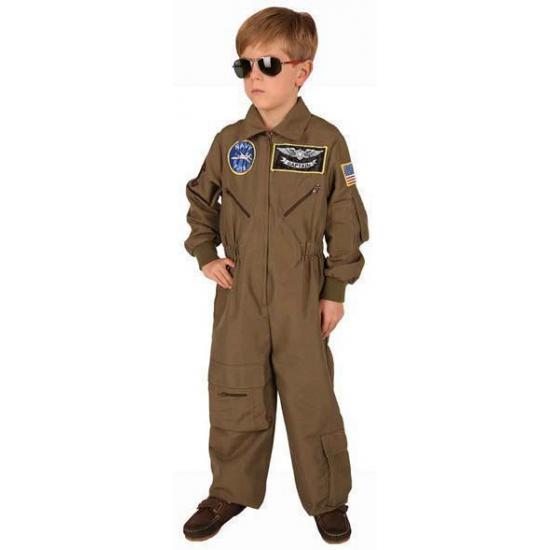 Gevechtspiloot kostuum bruin voor kinderen. wordt een echte gevechtspiloot met dit piloten kostuum. dit ...