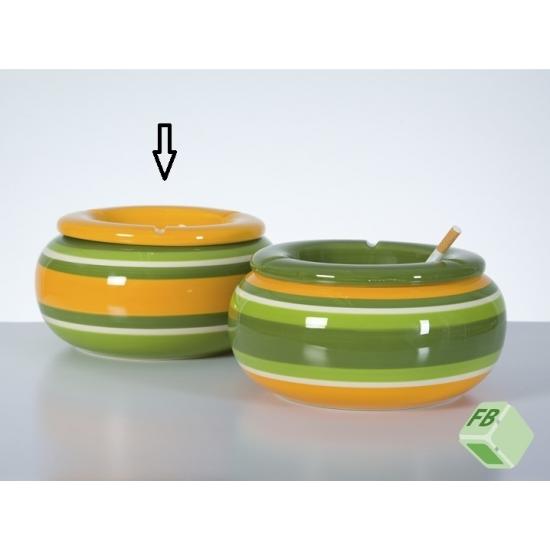 Maxi asbak geel/groen 23 cm