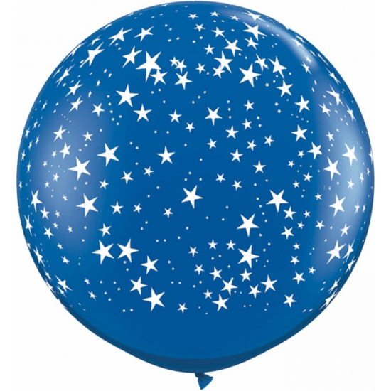 Image of Mega ballon sterren blauw 90 cm