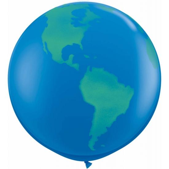 Image of Mega ballon wereldbol 91 cm