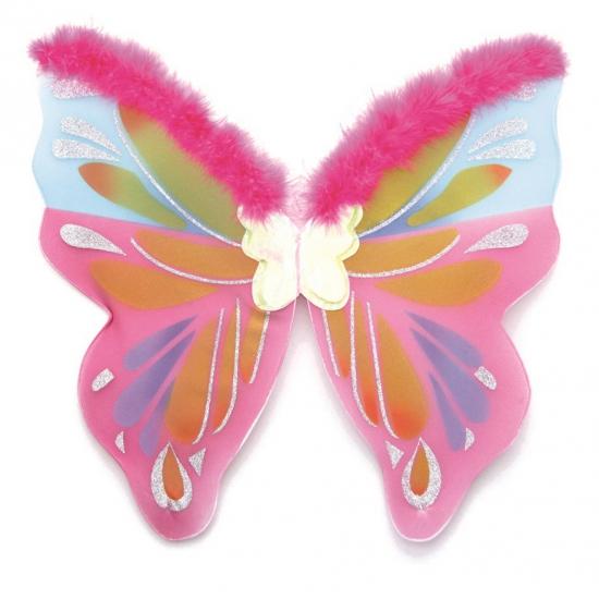 Image of Meiden vlinder vleugels gekleurd