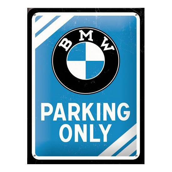Image of Metalen borden BMW parking only 15 cm