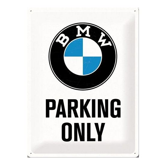 Image of Metalen borden BMW parking only