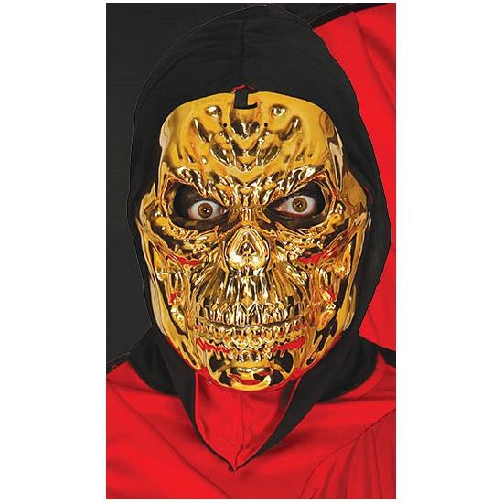 Image of Metallic gouden skeletten masker voor volwassenen