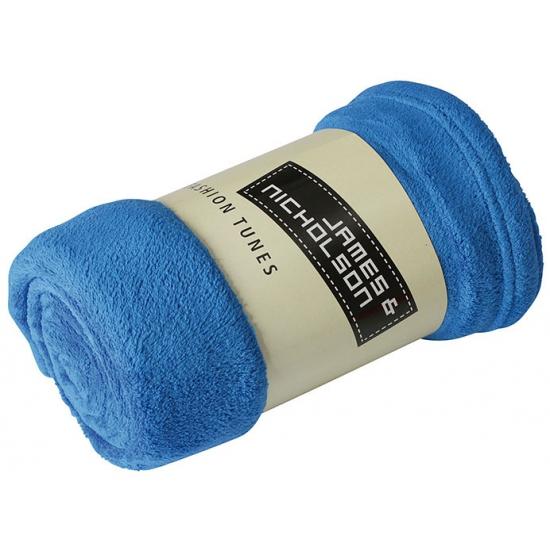 Image of Microvezel fleece deken kobalt