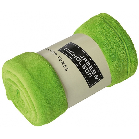 Image of Microvezel fleece deken lime