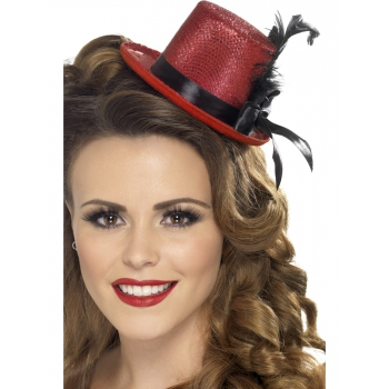 Image of Mini hoge hoedjes voor dames rood