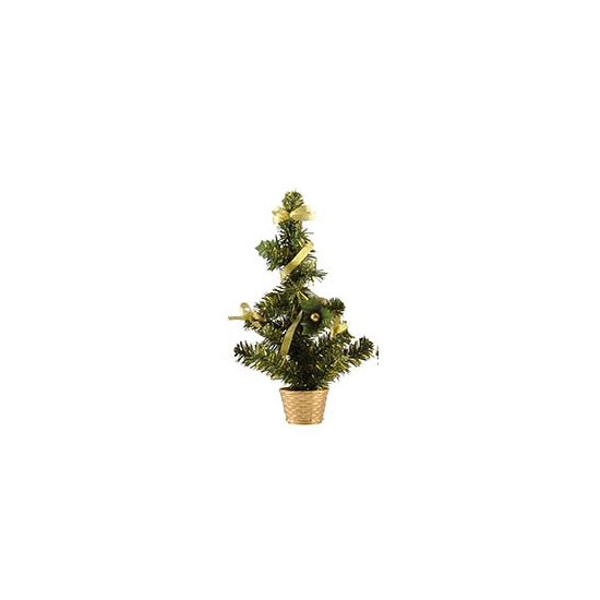 Image of Mini kerstboompje goud 36 cm