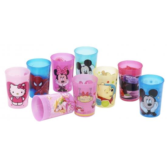 Minnie mouse beker van plastic. deze roze plastic beker met vrolijke plaatjes van minnie mouse heeft een ...