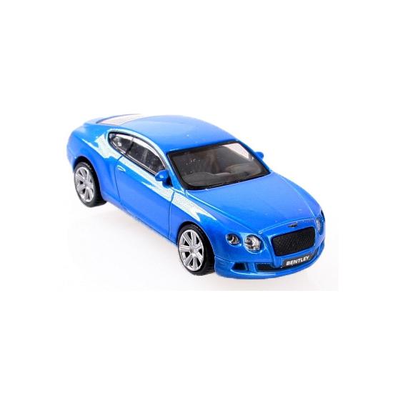 Image of Modelauto Bentley Continental GT die cast blauw