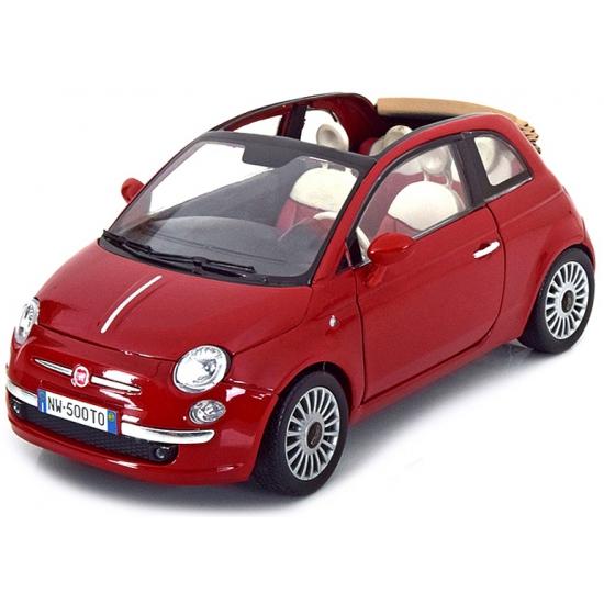 Modelauto Fiat 500 cabrio 1:18
