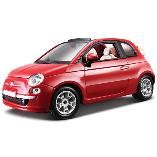 Image of Modelauto Fiat 500 cabrio 1:24