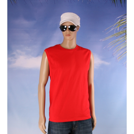 Image of Mouwloos t-shirt rood voor mannen