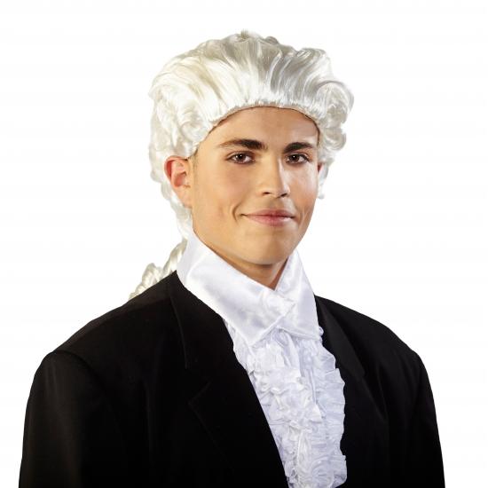 Image of Mozart pruik met staart