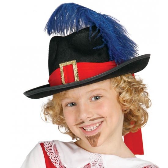 Image of Musketiers hoed met veer kinderen