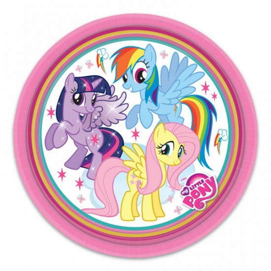 Image of My Little Pony bordjes 8 stuks