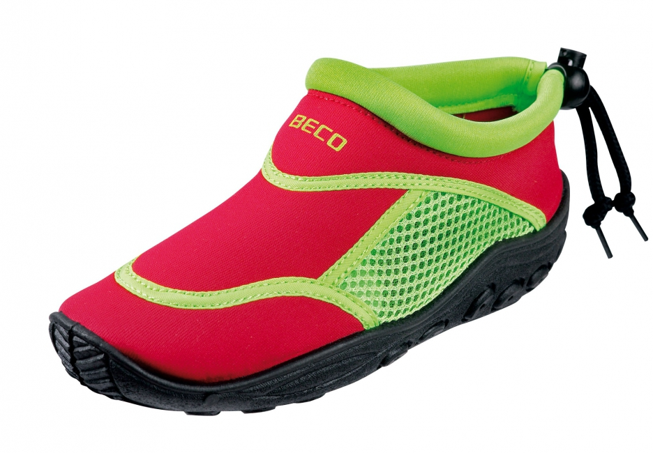 Image of Neopreen rood met groene waterschoenen anti-slip