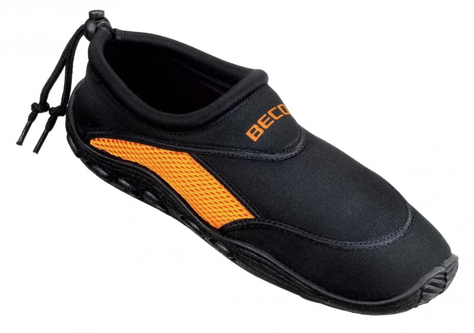 Image of Neopreen zwart oranje waterschoenen anti-slip