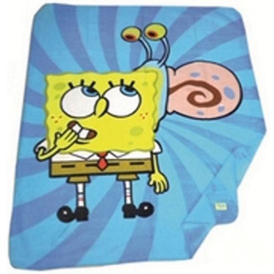 Image of Nickelodeon Spongebob Squarepants fleece deken blauw