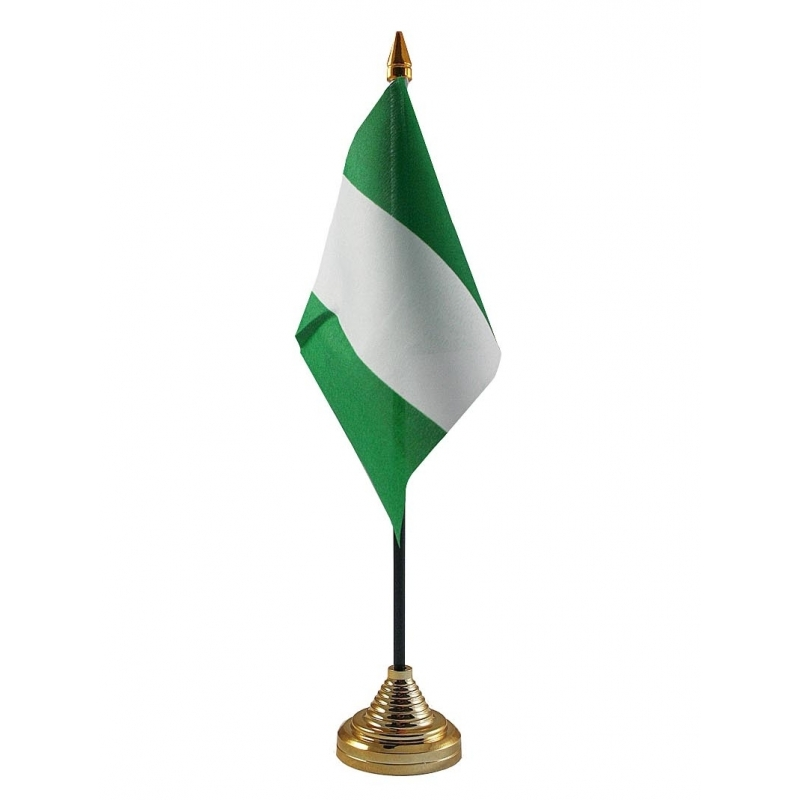 Image of Nigeria vlaggetje voor op tafel