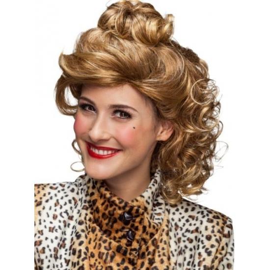 Nineties pruik halflang blond voor dames
