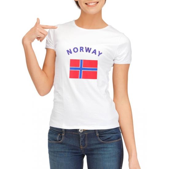 Image of Noorwegen t-shirt met Noorse vlag print voor dames